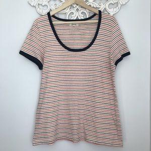 MADEWELL Striped Women's Soft Stretchy Tshirt XL.